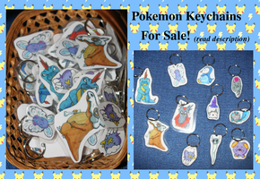 Pokemon Keychains: FOR SALE by The--Working-Wulf
