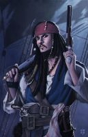 Captain Jack Sparrow by erlanarya