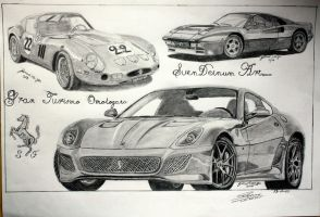 Ferrari GTO Trilogy by SD1-art