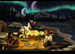 Night By The Fire by Mikaces