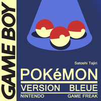 Minimal Game Posters - Pokemon Blue Version by Waddle-Moogle