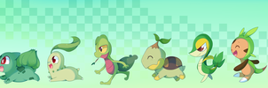 Generations - Grass Starters by pekou