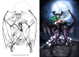 Coloring Morrigan by yumeoibito-chan