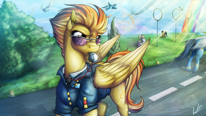 Captain Of The Wonderbolts (+ SPEEDPAINTING) by LupiArts