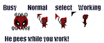 Deadpool Cursors by marmarthemost