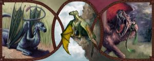 The Three Dragons by Rodriguezzz