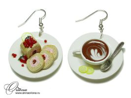 Cakes and tea by OrionaJewelry