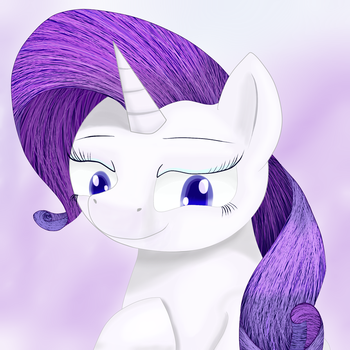 Rarity Portrait by Huffy26