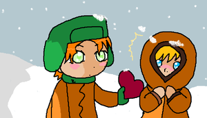Kyle and Kenny winter by Lars-Dagger
