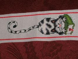 Finished - Cat Bookmark by Dragonstar78