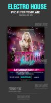 Electro House PSD Flyer Template by ImperialFlyers