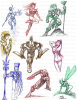 Various OC Sketches by dnewlenox