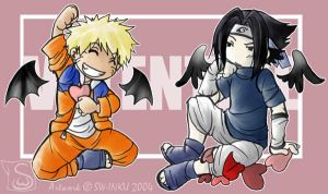 valentine - Naruto and Sasuke by sw