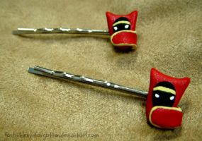 ::Journey Hair Clips:: by Forbiddenynforgotten