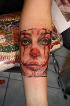 Bloody clown by SimplyTattoo