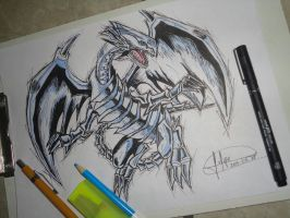 Blue-Eyes White Dragon - Yu-Gi-Oh! by Felipedsx by Felipedsx