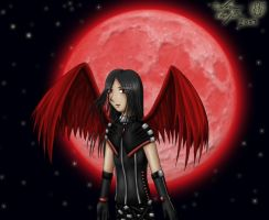 Red Moon Angel by Lord-Evell