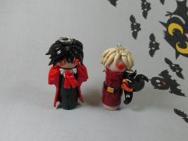 Wobbles: Alucard and Seras by okapirose