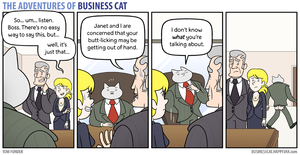 The Adventures of Business Cat - Over-Grooming by tomfonder