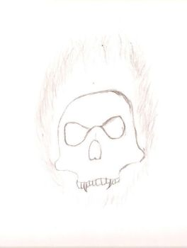 Flamin Skull by sirk141