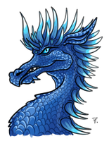 Adult azure dragon by ChuChucolate