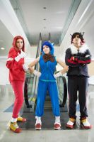 Sonic, Knuckles, Shadow Cosplay by Opposites
