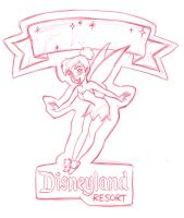 Tinkerbell Pin Design by tombancroft