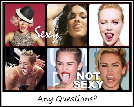Miley Cyrus Ugly Tongue by laughlady99