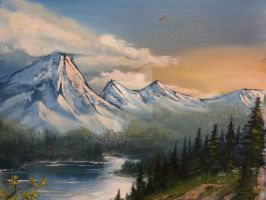 Landscape Oil-painting by Black-Wing24
