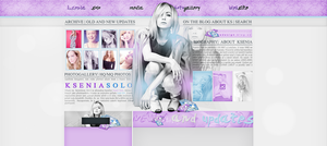 Simple layout With Ksenia Solo (Premade/Free) by redesignbea