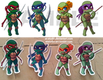 Commission - 4 Chibi commission TMNT (rule 63) by AT-Studio