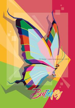 Butterfly in Pop Art by duniaonme