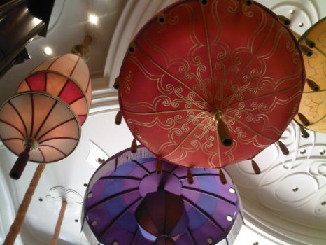 Colorful Lamps by MoonRadience