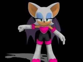 Sonic Generations Rouge for MMD -Update- by Sticklover4