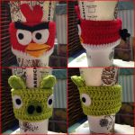 Crochet Angry Bird cup cozies by tails267209