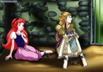 Eilonwy and Zelda by bbmbbf