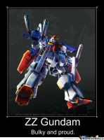 Gundam ZZ Motivational Poster 2 by slyboyseth