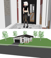 MMD glass house + DL by nekovampire95