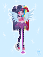 Rainbow Rocks Twilight Sparkle by robynneski