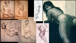 Somewhat sexy life drawings by GeniusFetus