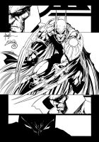 Batman vs Darkseid Page Ink#1 by SWAVE18