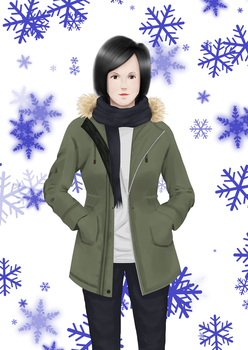 Girl 2 - Winter Clothes. by SpeedArtSA