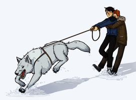 YJ: Walking Wolf by malin-j
