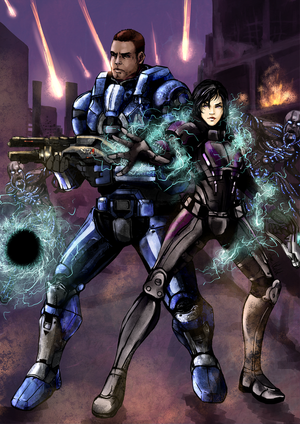 Commission- Rennah Shepard and James Vega by anne-wild