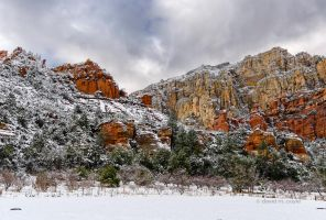 Red Rock Snow by DavidMCoyle