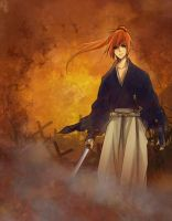 Kenshin doodle by pianopear12