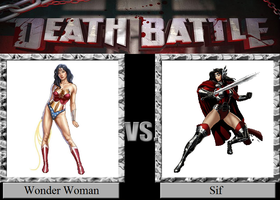 Wonder Woman vs. Sif by JasonPictures