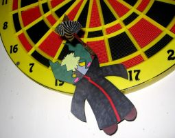 Paperchild Zetsu:Playing Darts by emonekokat