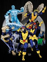 The Original X-Men (In color) by dondalier