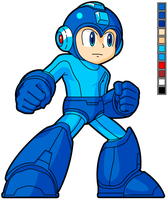 - SSB4 Style - Mega Man HD Sprite by Availation